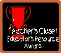 Teacher's Closet Educator's Resource Award